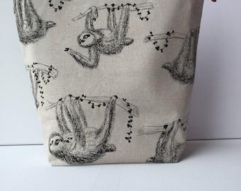 Project Bag - Sock Knitting Bag - Sock Sack - Knitting Project Bag - Crochet Project Bag - Needlepoint Bag - Embroidery Bag - (Large)