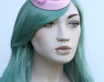 Baby Pastel Pink Mini Side Hat With My Little Pony In A Pearl Field Of Daisys