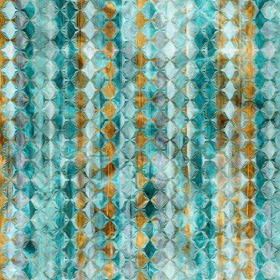 UNIQUE Handmade Stripe Velvet Upholstery Fabric Shimmer Fiber Art Fabric