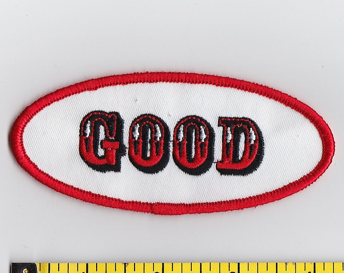 Iron On Patches - NAME TAG Good