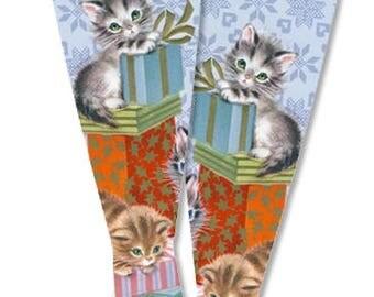 Meowy Christmas Blythe Doll Socks