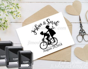 0033 SELF INKING Custom Personalized Rubber Stamp JLMould Save the Date Wedding Invitations SavetheDate Anniversary CardsInvites