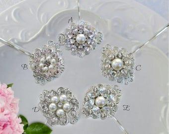 Bridal Hair Pins, wedding Bobby Pins, Pearl bridal clips, Bridesmaid hair, wedding U Pins, Crystal hair pins, Bridal Hair clips, Pearl combs