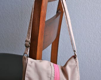 Canvas Messenger Bag - Coral