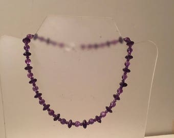 Amethyst Choker, Amethyst Bead Necklace, February Birthstone Necklace, Amethyst Beads Various Sizes Choker Necklace