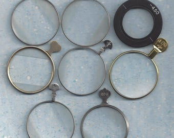 8 Optical Trial Lens Monocle type make your own jewelry !