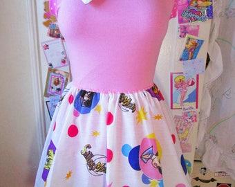 Sailor Moon dress, polka dot magical girl mahou shoujo anime otaku fairy kei size S small