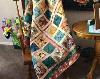 Quilted throw | Etsy : quilt throw - Adamdwight.com