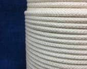 5mm Cream cotton braided rope / Natural Rope / Cream Cotton Rope / macrame cord / Rope decoration / Spool of braided cream rope