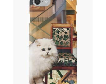 Virgo iPhone Case - Zodiac Astrology Art - August September Birthday Gift for the Cat Lover - Snap or Tough Case