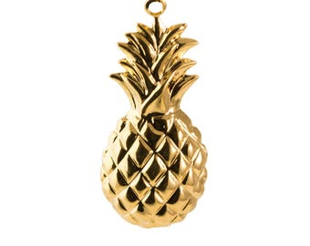 Gold Pineapple Pendant Charm with Loop (6) mtl431D