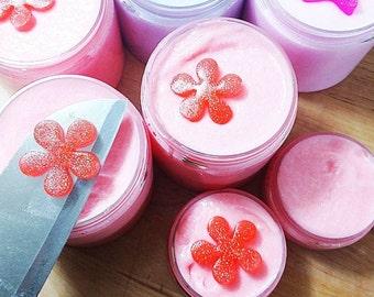 Sugar Scrub Soap. Body Sugar Scrub. Gift for Her. HAWAIIAN GIRL Sugar Scrub. Gentle body scrub. Exfoliating body scrub. glycerin soap top