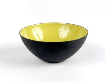 Vintage Krenit Bowl - 50s Krenit Bowl - Herbert Krenchel - Torben Orskov - Danish Modern - Puce Green - Danish Enamel Bowl - Small Bowl