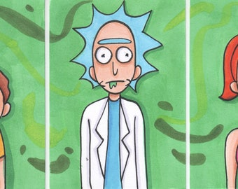 Rick Morty & Summer ACEO Cards