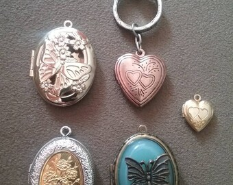 Locket Jewelry Lot, Locket, Locket Pendant, Necklace Pendant Jewelry Lot, Vintage Jewelry Lot, Vintage Locket
