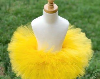 First Birthday Outfit Girl Tutu, Yellow Tutu Dress Skirt, Tulle Skirt, Baby Tutu, 1st Birthday Outfit Girl Tutu, Baby Shower Gift, Baby Gift