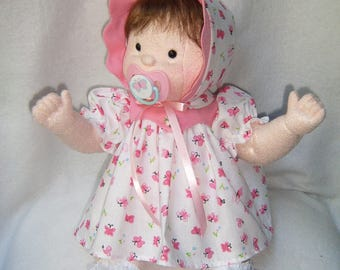 Cloth doll, dolls,  baby doll, rag doll, cloth baby doll, waldorf inspired, soft sculpture doll, soft baby doll, doll with 11 piece outfits
