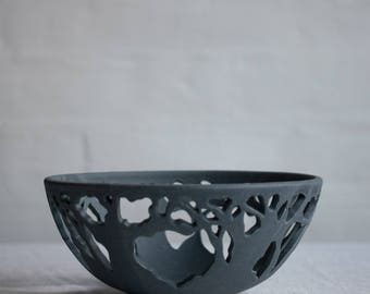Tree Bowl in Blue
