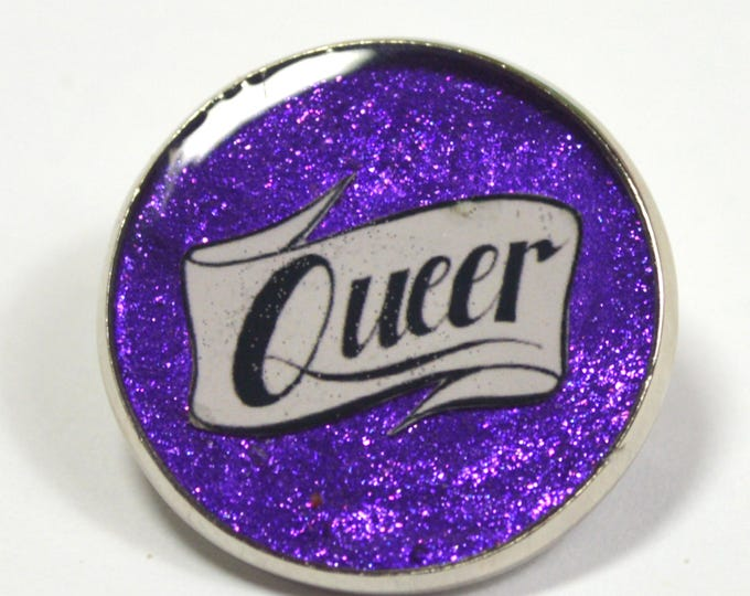 Queer Pride Resin Lapel Pin