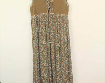 90's grunge floral hippie dress  // medium