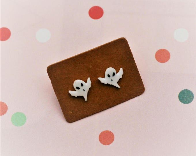 Ghost Earrings, Teeny Tiny Earrings, Ghost Jewelry, Cute Earrings
