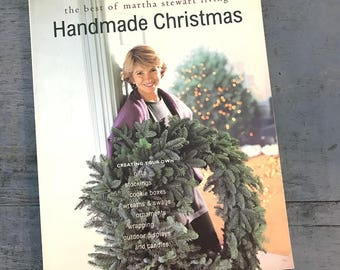 vintage Best of Martha Stewart Living Handmade Christmas book - home holiday diy decorating - winter crafting baking  - 1995