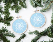 DIY Holiday Snowflake Ornament Embroidery Kit - Gift Topper, Christmas Ornament, DIY Gift, Gifts under 20, Gift for Crafters, Embroidery Kit