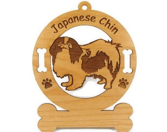 3425  Japanese Chin Ornament Personalized With Your Dog's Name
