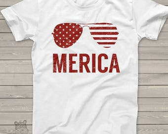 SALE - ships in time 4th SALE - America shirt - summertime stars and stripes merica tshirt - perfect for July 4th festivities  SSAT