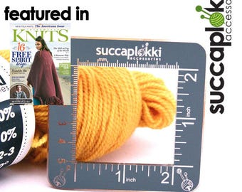 """Silmuccaruutu -Knitting Gauge Checker, Tool with exact 5c5cm (2""""x2"""") square and special two sided color"""