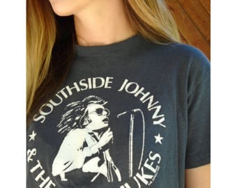 Southside Johnny & the Asbury Jukes 1980 New Years Eve Concert Band Tee Shirt - Vintage 80s - XS S