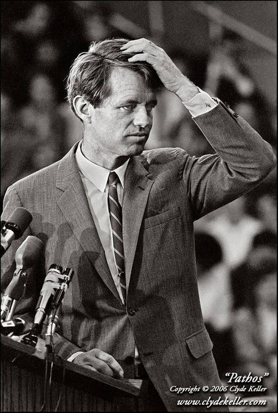 PATHOS, Robert F. Kennedy portrait, Clyde Keller 1968 Photo