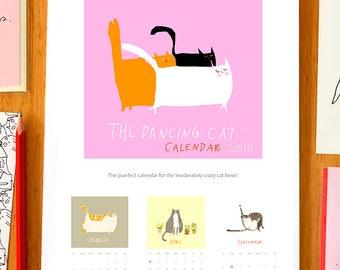 Cat Calendar- The 2018 Dancing Cat Calendar- Gift for Cat Lover