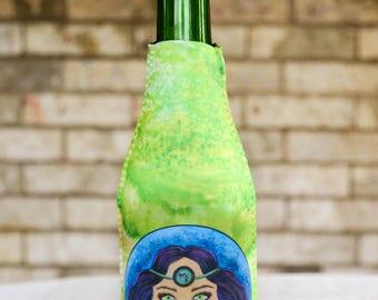 Beverage Insulator - Beer Bottle Cover - Drink Insulator - Bottle Insulator - Bottle Hugger - Bottle Cover - Pop Bottle Cover - Virgo Zodiac