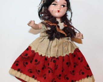 Vintage Composite DOLL 1940s or 1950s painted
