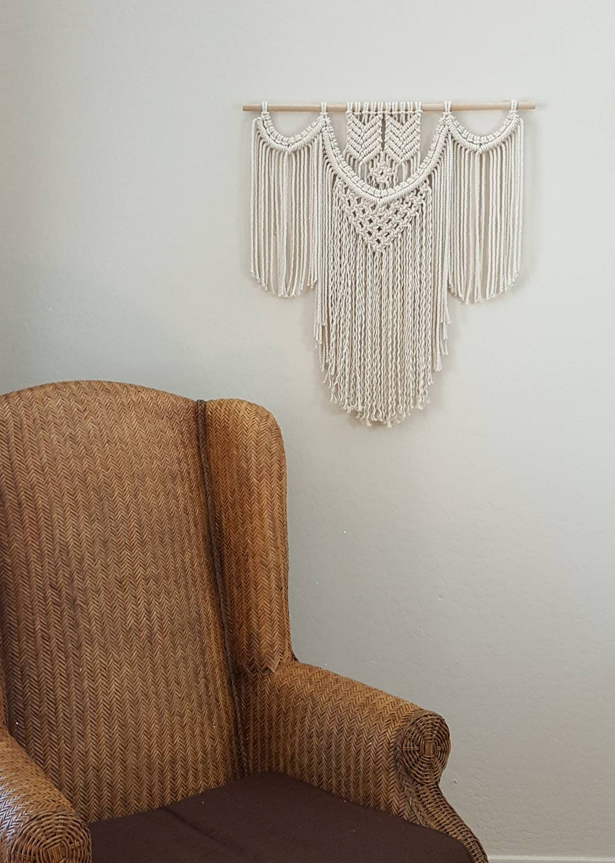 Cotton Macramé Wall Hanging, Piper. Tapestry/weaving/bohemian/wall Art.