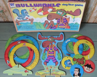 Vintage Bullwinkle Ring Toss Game Whitman 1972