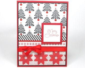 Christmas greeting cards, Christmas cards handmade, Modern Christmas card, Merry Christmas cards, Holiday cards, Christmas tree