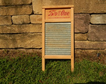 small vintage washboard, Two in One Jr., home decor, laundry, wall decor, cottage, farmhouse