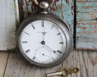 Antique American Watch Company 1869 Pocket Watch by avintageobsession on etsy...FREE Shipping