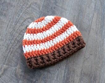 Crochet Baby Boy Fall Hat, Thanksgiving Fall Baby Hat, Newborn Fall Baby Boy Hat, Fall Baby Shower Gift, Fall Photo Prop