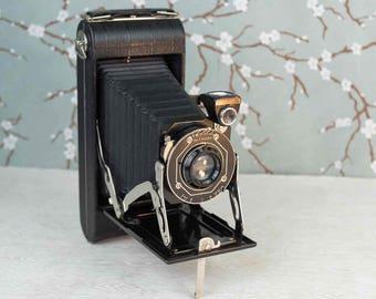 Vintage Kodak Junior Six-16 Camera with Original Box and Instructions