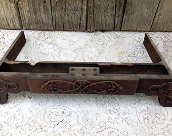 Vintage Franklin Treadle Sewing Machine Middle/Center Drawer Ornate Embossed