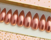 Frosted Pink Extra Long Stiletto Press On Nails | Extra Long Fake Nails | Single Color Nails | Long Nails | Photoshoot Stiletto Model Nails