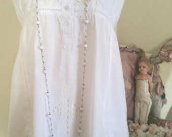 victorian top, 90s does victorian, vintage lingerie, summer top, cutwork lace, GORGEOUS embroidery