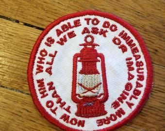 Now To Him Ephesian 3:20 Patch Sew on Embroidered Patch, Ornament, or Magnet Handmade in the USA