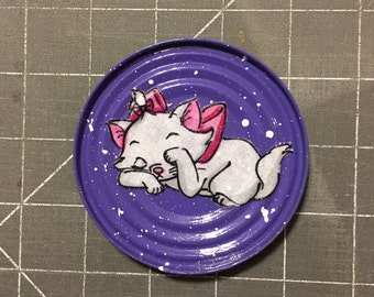 PURPLE MAGNET KM112 (Aristocats Fabric)