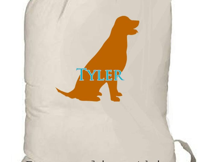 Boy's Summer Camp Bag, Personalized overnight bag, boy's weekender bag, dog lover gift, boys camp bag, boys laundry bag, boys toy storage