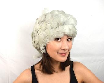 Wild 60s Wow Fun Vintage Maribou Feather Hat