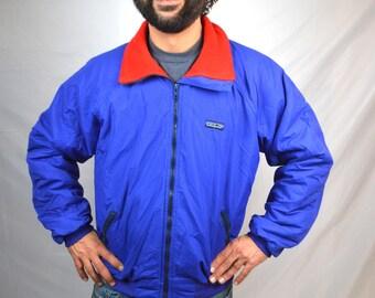 Vintage 1980s Patagonia Red Purple Zip Up Jacket Coat